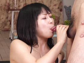 Nozomi Hatsuki spreads her furry muff to have it filled with a rabbit vibrator